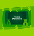 finance 3d abstract background with paper cut vector image