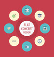 flat icons spectacles handshake diagram vector image vector image