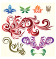 Floral Ornamental Elements vector image
