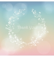 Floral wreath frame thank you card vector image vector image