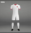 football kit of tunisia 2018 vector image vector image
