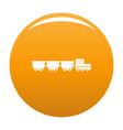 freight wagons icon orange vector image