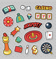 gambling casino badges patches and stickers vector image vector image