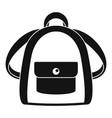 girl backpack icon simple style vector image