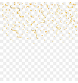 gold confetti background vector image vector image