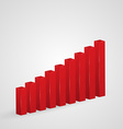 Growing graphic icon Business chart vector image