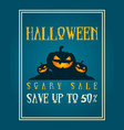 halloween night party poster design vector image