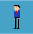 happy businessman in a blue shirt vector image vector image