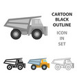 haul truck icon in cartoon style isolated on white vector image vector image