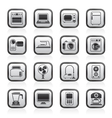 household appliances and electronics icons vector image vector image
