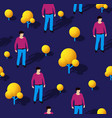 isometric seamless repeating pattern people vector image vector image