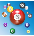 Ivories Billiard Balls Set vector image vector image