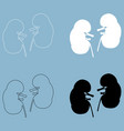 kidney the black and white color icon vector image vector image