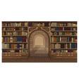 library book shelf interior graphic sketch vector image
