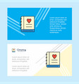 love diary abstract corporate business banner vector image vector image