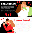 man and woman in love banners vector image vector image