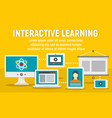 modern interactive learning concept banner flat vector image