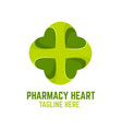 modern pharmacy heart logo vector image