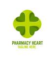 modern pharmacy heart logo vector image vector image