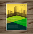 modern yellow and green business brochure vector image vector image