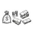 money concept business banking finance sketch vector image
