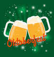 oktoberfest beer poster octoberfest vector image