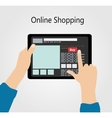 Online Shopping Flat Concept vector image vector image