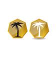 palm tree golden logo design template vector image vector image