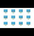 Pencil emoji vector image vector image