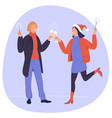 people holding champagne glasses vector image vector image