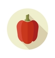 Pepper flat icon with long shadow vector image vector image