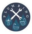 plumbing symbol vector image vector image