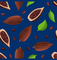 realistic detailed 3d dry cocoa pods seamless vector image vector image
