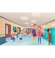school break trouble pupils and students vector image