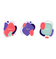 set badges modern abstract colorful organic vector image