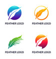 Set modern feather logo lawyer law firm logo