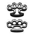 set of brass knuckle design element for logo vector image vector image