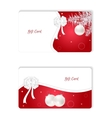 Set of two horizontal white Christmas gift card vector image vector image