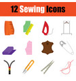 sewing icon set vector image vector image