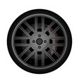 side view racing car wheel icon vector image vector image