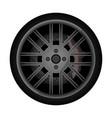 side view racing car wheel icon vector image vector image