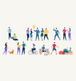 social network and teamwork concept vector image vector image
