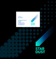 star dust logo comet emblem and identity vector image