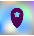 Star favorite pin map icon vector image