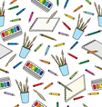 supplies for drawing pattern vector image vector image