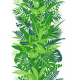 tropical plants green vertical pattern vector image vector image