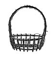 Wicker Basket silhouette vector image