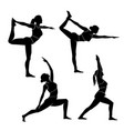 yoga or exercise silhouette vector image vector image