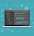laptop coding concept Web developer vector image