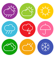 Colorful weather sign vector image